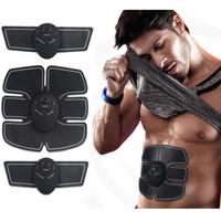 gewichtsverlust körper gürtel großhandel-Wireless Muscle Stimulator Smart Fitness Bauchtrainingsgerät Elektrische Gewichtsverlust Aufkleber Körper Slimmerbelt Unisex