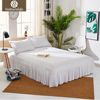 Wholesale lilac bedspreads for sale - Group buy Naturelife European bed skirt Solid bed cover sheets bed coon quilted lace bedspread lace bed sheet support drop shipping