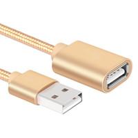 используемые компьютеры оптовых-USB-кабель от мужчины к женщине расширение нейлон ткать кабель используется для мобильных жесткий диск компьютер ноутбук ручка игры С и т. д