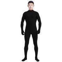 Wholesale catsuit men for sale - Group buy Ensnovo Men Lycra Spandex Suit Turtleneck Black Unitard One Piece Full Body Custom Skin Tight No Head Unisex Cosplay Costumes