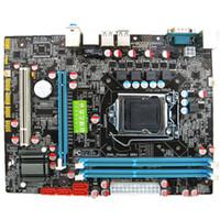 procesadores amd am2 al por mayor-Placa base P55 CPU de alta calidad LGA 1156 Pin 2 * DDR3 1 * Placa base de escritorio RJ45H55 con puerto USB Venta caliente