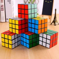 Wholesale kids educational game online - Puzzle cube Small size cm Mini Magic Rubik Cube Game Rubik Learning Educational Game Rubik Cube Good Gift Toy Decompression kids toys