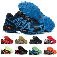 Wholesale solomon women - Brand Hot sell Solomons Speedcross 3 CS Trail Running Shoes women Lightweight Sneakers Navy Solomon III Zapatos Waterproof Athletic Shoes 36