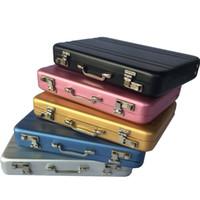 maleta mini tarjeta al por mayor-Tarjeta de visita de aluminio con ID de identificación Titular de la tarjeta de crédito Mini maleta Nombre comercial Titular de la tarjeta Organizador de la caja