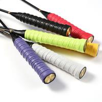 aperto para raquete de badminton venda por atacado-10 cores Anti-slip Respirável Esporte Over Grip Sweatband Ténis Overgrips Fita Badminton Raquete de mão Apertos de fita Sweatband vermelho