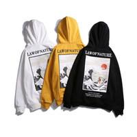 Wholesale natural cats resale online - Mens Harajuku Law of Nature Drowning Cat Printed Sweatshirt Male Female Hip Hop High Street Pullover