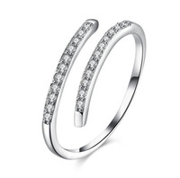 Wholesale nice crystal jewelry for sale - Group buy 925 Silver Beautiful design Women Open Rings Jewelry Crystal Rings For Women Valentine s Day Nice Gifts Birthday Surprise