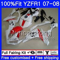 kit carenado yzf r1 rojo al por mayor-Cuerpo de inyección para YAMAHA YZF R 1 YZF-1000 YZF-R1 07 08 227HM.37 YZF 1000 YZFR1 07 08 YZF1000 Scorpion Red nuevo YZF R1 2007 2008 Fairing Kit