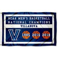 Wholesale basketball times - Villanova Wildcats Three Time Basketball National Champions Flag City Country banner Flag Custom any Team House Divided Flag