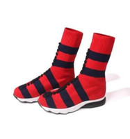 Wholesale sexy hoses online - Women Wool stocking hose Boots classic fashion luxury Splicing Ladies socialite banquet elasticity sexy Striped classic sports long boots