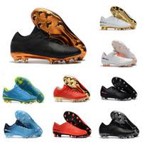 cr7 botas de fútbol negro oro al por mayor-Botines de fútbol de niños de oro negro originales Mercurial Superfly CR7 zapatos de fútbol bajo tobillo Cristiano Ronaldo Mens Botas de fútbol 40-46 EUR
