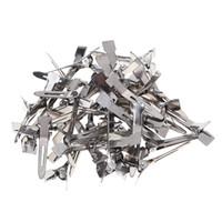 düz tutamak klipsleri toptan satış-180 adet / paket Kuaförlük Salon Saç Araçları Gümüş Düz Metal Tek Prong Timsah Saç Klipler Barrette DIY Firkete Aksesuarı