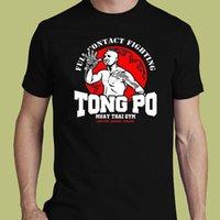 muay thai short livraison gratuite achat en gros de-Tong Po Muay Thaï Gymnase Van Damme Karaté Kick Boxinger Mma Tee S