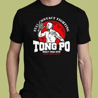 muay thai şort ücretsiz gönderim toptan satış-Tong Po Muay Thai Gymer Van Damme Karate Tekme Boxinger Mma Tee S-3xl T-shirt Kısa Kollu Pamuk Moda T Gömlek Ücretsiz Kargo