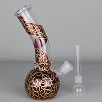 ingrosso tubi di acqua cinese-Mini bong in vetro da 6,7 pollici '' Modello drago cinese '' Becher in vetro per pipa ad acqua in vetro Dabs 144g