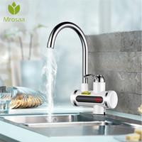 chauffage électrique instantané achat en gros de-220V Instantané chauffe-eau sans robinet Tapez robinet instantané salle de bains cuisine rapide robinet électrique grue Eau chaude instantanée