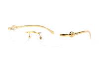 ingrosso occhiali neri delle donne nere-Occhiali da sole di marca popolare occhiali da sole cool argento oro modello leopardo arredamento nero marrone chiaro lenti montature senza montatura per uomini donne