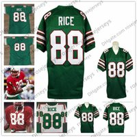 Mississippi Valley State Delta Devils  88 Jerry Rice 1984 NCAA Vintage  Green White Red 80 Black Retro College Football Jerseys size S-4XL 58bdef3e2