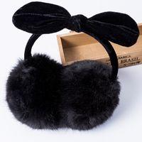 kabarık kulaklıklar toptan satış-Toptan Satış - Yeni Stil Earmuffs Kabarık Faux Fur Kış Kadınlar Için Earmuffs Earmuffs Kız Kış Sıcak Earcap Bayanlar Peluş Kulaklar Muffs