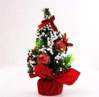 игрушечная елка оптовых-10pcs/lot Beautiful 20CM Merry Christmas Tree Bedroom Desk Decoration Toy Doll Gift Decorations for Office Home