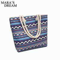 Wholesale fashion totes wholesale - 2018 Casual Women Floral Large Capacity Tote Canvas Shoulder Bag Shopping Bag Beach Bags Casual Tote Feminina