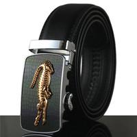 Wholesale brand crocodile belt for men for sale - Group buy Famous Brand Belt Men Business Genuine Luxury Leather Belts for Men Waiststraps Male Metal Automatic Buckle Crocodile Belts cm