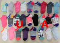 Wholesale Boys Slippers Socks - New arived Ankle Boat Kids Sports Socks KID Cotton Blend Socks Child Short Football Slippers Socks Colorful Girls & Boys Sock