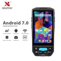 wifi kamera scanner großhandel-Android 7.0 Datenkollektor Pda 1D 2D Reader Drahtlose Bluetooth Wifi Kamera GPS NFC UHF RFID Computer Terminal Barcode Scanner