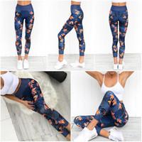 Wholesale women sports wear yoga pants online - Summer New Yoga Pants Women Fashion Digital Printing Running Leggings Female Brand Designer High Elasticity Sports Wear kr Ww