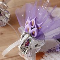 ingrosso bel giglio-2019 New Wedding Favore Scatole Acrilico Swan con bellissimi fiori di giglio Regalo di nozze Bomboniere Bomboniere Novità Baby Shower Candy