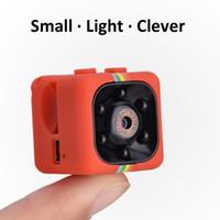 Wholesale mini digital dvr online - SQ11 Mini Camera HD P Night Vision Camcorder Car DVR Infrared Video Recorder Sport Digital Camera Support TF Card DV Camera DHl ship