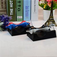 giroscópio magnético venda por atacado-Levitação Magnética Giroscópio De Plástico Rotativo Ciência Educar Brinquedo Para Casa Sala de estar Decoração Artesanato Cor Dupla 5 8jr BB