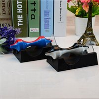 Wholesale levitation magnetic - Magnetic Levitation Gyroscope Plastic Rotating Science Educate Toy For Home Living Room Decoration Crafts Double Color 5 8jr BB