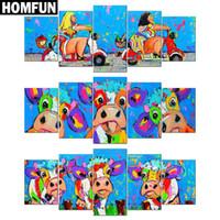 многоцветные картинки оптовых-Полный квадрат/круглый дрель 5D DIY Алмаз живопись