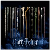 Wholesale harry potter gifts - 28 Styles Harry Potter Wand Magic Props Hogwarts Harry Potter Series Magic Wand Harry Potter Magical Wand With Gift Box CCA9102 100pcs