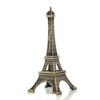 эйфовая модель оптовых-Бронзовая Париж Эйфелева башня металлическая статуэтка старинные модели Главная декоры сплава сувенир 5 см