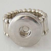 diy ring tasarımları toptan satış-Promosyon 10 Tasarım Seçmek Için DIY Snaps Düğme Takı Metal Snaps Yüzük Yapış Düğmeler Için Fit 18 / 20mm Zencefil Snaps Düğmeler halkaları