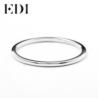 Wholesale 14k 585 ring for sale - Group buy EDI mm Thin Domed Wedding Band in K White Gold Classic Solid Gold Ring Band For Women All Match Gift