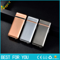 elektronik sigara siparişi vermek toptan satış-Sıcak Akıllı indüksiyon çift ark USB elektronik çakmak sigara çakmak şarj sipariş edilebilir