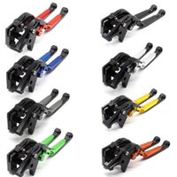 Wholesale folding brake clutch levers resale online - For Suzuki GSXR K1 K2 K3 K4 K5 K6 K7 K8 K9 Adjustable Folding Extending Brake Clutch Levers CNC