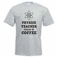 wissenschaft maschine großhandel-T-Shirt Top Männer Shop Maschine Physic jeweils durch Kaffee Schule Wissenschaft Crew Neck Neuheit Kurzarm T-Stücke