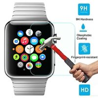 Wholesale 0 mm D H Tempered Glass Cover Screen Protector Flim For Apple Watch iWatch mm mm With Retail Package
