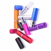 alüminyum parfüm toptan satış-5ml Mini Parfüm Şişesi Seyahat Doldurulabilir Boş Kozmetik Konteyner Parfüm Şişesi Atomizer Alüminyum Doldurulabilir Şişeler Sprey