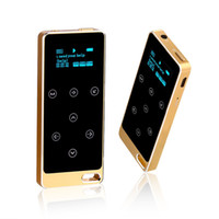 золотой mp3-плеер оптовых-2017 Metal HIFI MP3 Player with 8GB storage and Screen Touch button play 100h high quality Lossless sound quality sport mp3 Gold