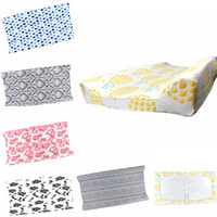 Wholesale table sheets - Baby Nappy Changing Pad Cover Detachable Floral Diaper Changing Table Bed Sheet Infant Change Mat Cover EEA510 15PCS