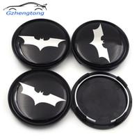 ingrosso batman emblemi-Gzhengtong 4pcs / lot 63mm Batman centro della ruota Caps Car Badge Emblem Sticker Centro della ruota Coprimozzo Mozzo Rim Caps