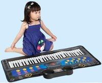 Wholesale mini piano toys - Boys girls children early education intelligence there are keys keyboard piano blanket baby music toys gifts
