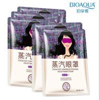kırışıklık yağı toptan satış-BIOAQUA Göz Maskesi Lavanta Yağı Buhar Yüz Bakımı Cilt Koyu Daire Göz Çanta Ortadan Kaldırmak Puf Gözler Ince Çizgi Kırışıklıklar Anti-aging