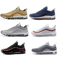 Wholesale Max Edition - New Maxes 97 Mens Low Running Shoes Cushion Men OG Silver Gold Anniversary Edition Sneakers Woman Maxes Sport Athletic Sports Trainers Shoes