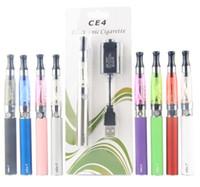 elektronische ego ce4 kits großhandel-CE4 Ego-Starter-Kit CE4 Elektronische Zigarette Blister-Kits und 650mAh 900mAh 1100mAh EGO-T Batterie Blister-Etui Clearomizer E-Zigarette